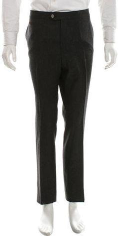 Valentino Wool Flat Front Pants Valentino Flats, Mens Dress Pants, Charcoal, Wool, Stylish, Fashion, Moda, Fashion Styles, Fashion Illustrations