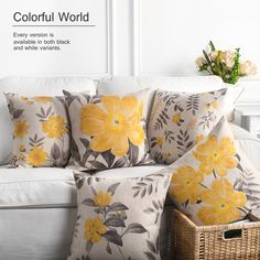 Flower  3D Cushion Cover Home Decor Sofa Throw Pillow Case 12Inches to 24Inches