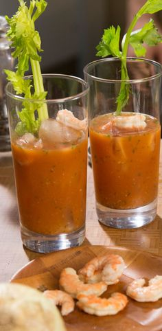 """When we heard """"shrimp stock Bloody Mary,"""" we were a bit skeptical ..."""