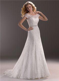 short+sleeve+lace+wedding+dresses | Line Sweetheart Lace Wedding Dress With Short Sleeve Jacket Crystal ...
