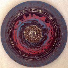 """Emin Özdemir — """"Contemplation"""" rotational oscillation, acrylic... Fractals, Mandala, Digital Art, Handmade, Hand Made, Mandalas, Handarbeit"""