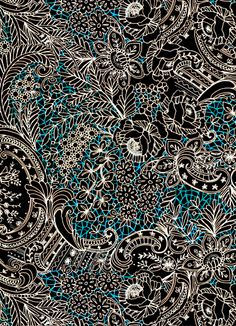 Lital gold 2013 - Beautiful all-over composition Textile Prints