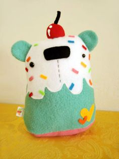 Minty Coloful Cupcake Bear by casscc.deviantart.com on @deviantART
