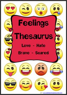Feelings - Emotions Thesaurus | Flashcards 2 | PREMIUM RESOURCE | An excellent resource for learning alternate words for everyday emotions. A resource suitable for critical and creative thinking while also providing interesting descriptive words for narrative and poetry writing