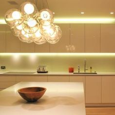 lighting above and below units