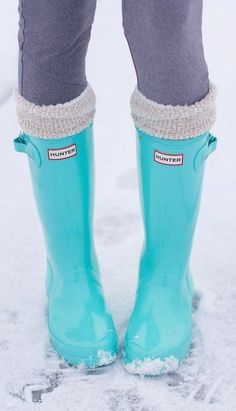 Love these Tiffany Blue wellies ❤︎