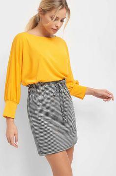 Károvaná sukně s volným pasem - Béžový Mini Skirts, Casual, Outfits, Shopping, Fashion, Moda, Suits, Fashion Styles, Mini Skirt