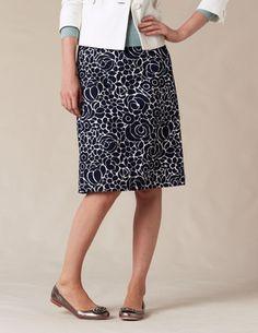boden printed cotton skirt / $68