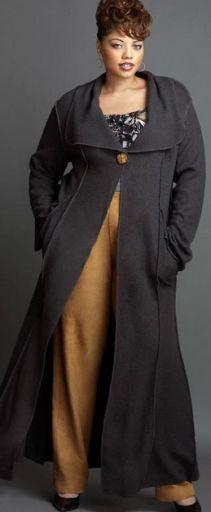 Фото верхней модной одежды для полных: фасоны пальто и курток XXL