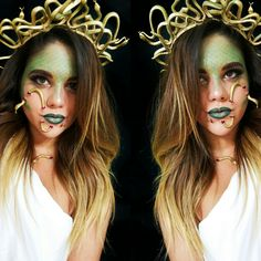 Medusa halloween october medusa makeup medusa costume snake Greek mythology cosplay sfx special effects snake queen stone goddess @odlen_sita