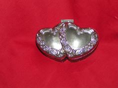 vintage Silver Plated Trinket/ Jewe;ry box by the International Silver Co.