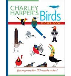 Charley Harper's Birds: BS005 sticker book 2300