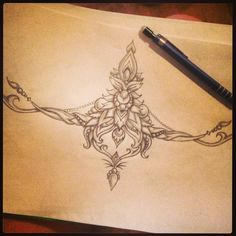 Really like sternum tattoos, just need to decide on a design, this is quite simple and pretty