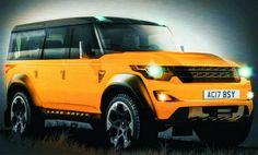 2016 Land Rover Defender Orange