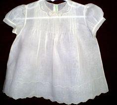 Vintage Feltman Bros Embroidered Baby Dress