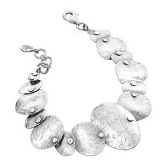 Silpada 'Badge of Beauty' Sterling Silver Disc Bracelet, 7.25 .75' Extender *** Click image for more details. #WomensJewelry