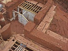 Cob House Construction pics