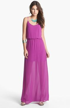 Lush Bar Back Maxi Dress (Juniors) available at #Nordstrom... tried it on and loved it, but I soooo don't need another maxi