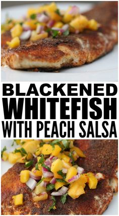 There are so many different ways you can enjoy whitefish - baked, grilled, fried, in a foil packet - but this Blackened Whitefish with Peach Salsa is by far one of my favorites. While not as healthy as baking it in the oven, this whitefish recipe is extremely tasty and so incredibly easy to prepare. There are heaps of different sauces you can use to bring out the flavor of the fish, but you simply cannot go wrong with a simple peach salsa, don't you agree?