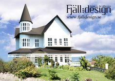 3D modellerad, renderad bild inplacerad i fotografi föreställande hus.