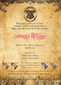 Harry Potter Bridal Shower Invitation