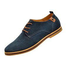SODIAL (R) Wildleder im europaeischen Stil Schuhe Herren Oxfords Freizeit - Blau - http://on-line-kaufen.de/sodial-r/sodial-r-wildleder-im-europaeischen-stil-schuhe