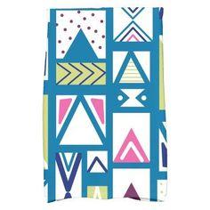 E by Design Jump For Joy Merry Susan Geometric Print Kitchen Towel Teal - KTHGN707BL34