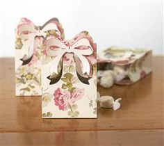 This little treat bag is so easy to make.  A perfect party favor or hostess gift for any celebration! Enjoy, Anna