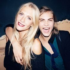 Poppy and Cara Delevingne | adorable sisters