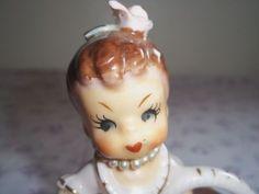 Vintage-Japan-Ucagco-Pink-Girl-Figurine-Lipstick-Holder-Basket-Spaghetti-Trim