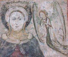 Köpenyes Mária (részlet) 15. sz. közepe Freskó Szent Jakab-templom, Kőszeg