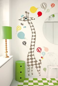 Wall art in nursery. So sweet.