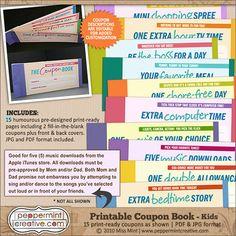 Printable Coupon Book for the Kids