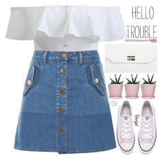 """""""what people think of you is not equivalent to who you are"""" by exco ❤ liked on Polyvore featuring Valentino, Boohoo, Converse, Paul Smith, clean, organized and rosegal"""