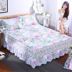 Ou Hui Ya bed skirt mattresses Korean bedspreads bed sets of single bed covers bed linings 1.8 / 1.5 / 1.2 meters