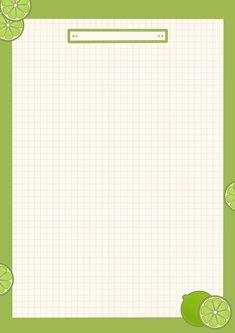 มะนาวเขียวน้อย😋 Cute Notes, Good Notes, Memo Notepad, Notes Template, Templates, Printable Scrapbook Paper, Aesthetic Template, Notebook Paper, Notes Design