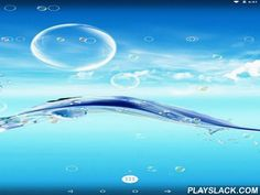Water Bubble  Android App - playslack.com , Water bubble - unbelievable live wallpapers with a perfect capital of thematic graphics finished  with floating globules. The app is power saving.