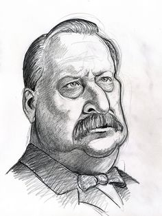Grover Cleveland, 24th president of the United States 1893-1897.