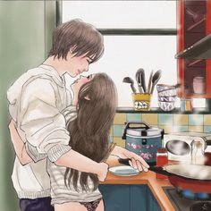 Art Love Couple, Cute Couple Drawings, Cute Couple Cartoon, Anime Love Couple, Anime Couples Drawings, Anime Couples Manga, Cute Cartoon, Cute Relationship Goals, Cute Relationships