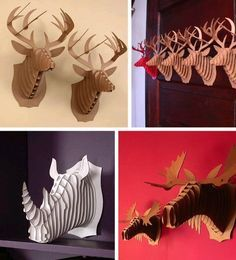 Look! Cool Animal Trophies from Cardboard Safari | Apartment Therapy