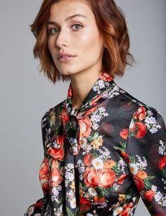 2c14b5839cf20 Ladies  Dress Shirts   Fitted Floral   Stripe