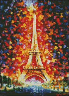 Paris Eiffel Tower Lighted - Counted Needle Point and Cross Stitch Chart Patterns by PaulaHowardPatterns on Etsy https://www.etsy.com/listing/199492914/paris-eiffel-tower-lighted-counted