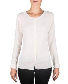 Damen Kaschmir Strickjacke CardiganRundhals weiss fornt Blouse, Long Sleeve, Sleeves, Sweaters, Tops, Women, Fashion, Jackets, Cast On Knitting