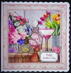 Spring Mood - Vintage Style Paper Kit by Linda Short: Printed my selected sheet on matte photo paper and attached to scalloped card. Added…