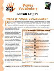 FREE 16-page Printable Vocabulary Packet for Kids Discover Roman Empire!