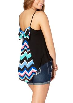 Rainbow Chevron Bow Back High-Low Tank | 2 for $20 | rue21