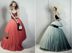 A Tale of Tulle and Genius - Designer Essence: Victor & Rolf Anti Fashion, Fashion Art, Editorial Fashion, High Fashion, Fashion Show, Fashion Design, Haute Couture Style, Couture Fashion, Victor And Rolf