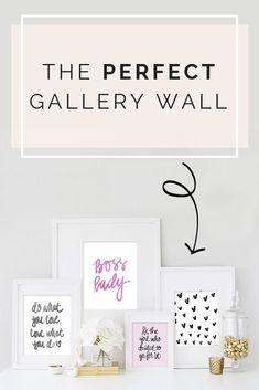 Create the perfect gallery wall with a mixture of hand lettered quotes and hand drawn illustrations.