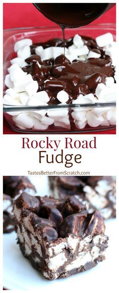 "Another pinner said, ""My Great-Grandma's Rocky Road Fudge recipe--a family favorite! On MyRecipeMagic.com"""