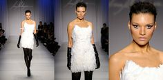 Irina Shabayeva white feather cocktail dress. by IrinaShabayeva, $1495.00